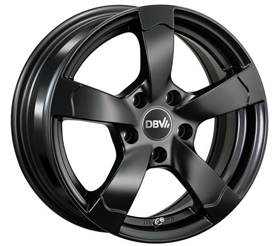 DBV Torino 2 Felgen in schwarz matt 14 bis 18 Zoll DBV Torino II Felgen in schwarz matt