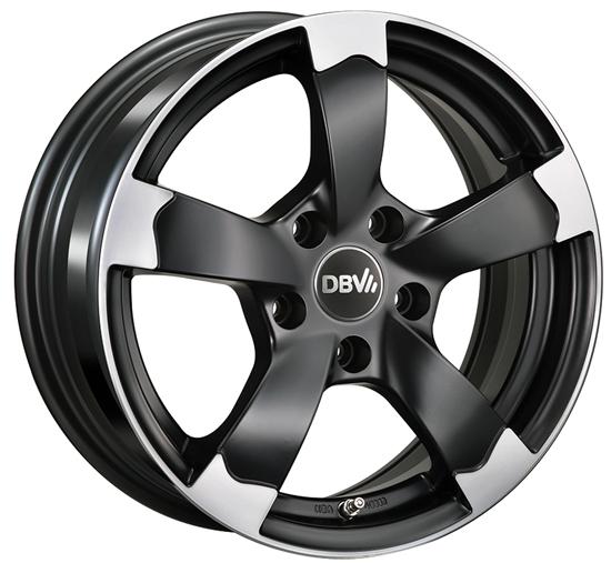 DBV Torino II Felgen in schwarz poliert von 15 bis 19 Zoll DBV Torino II Felgen in schwarz poliert