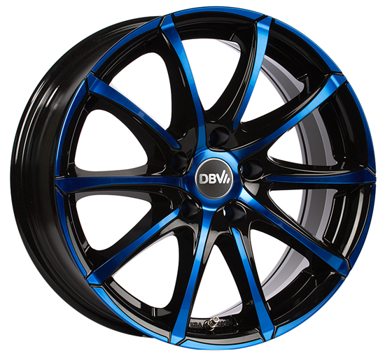 DBV Tropez Felgen in blau schwarz 18 Zoll BMW DBV Tropez Alufelgen in schwarz blau