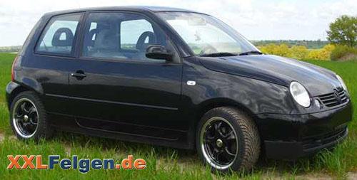 Schwarze VW Lupo Felgen DBV VW Lupo Felgen DBV Tahiti in schwarz