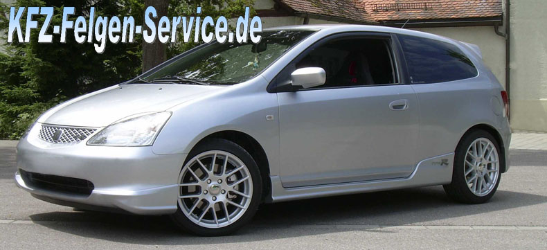 dbv arizona felgen honda 75x17 5x1143 5 DBV Arizona 17 Zoll auf Honda Civic Type R