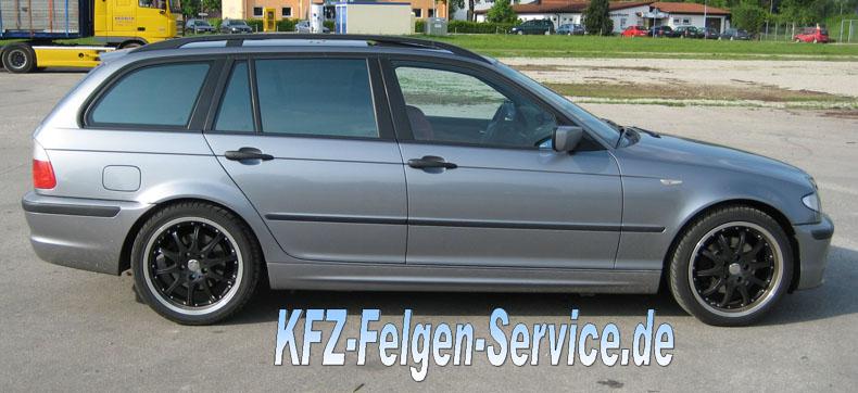 dbv s autralia schwarz 18 zoll auf 3er bmw 2 BMW 3er mit DBV S Australia 18 Zoll Alu Felgen