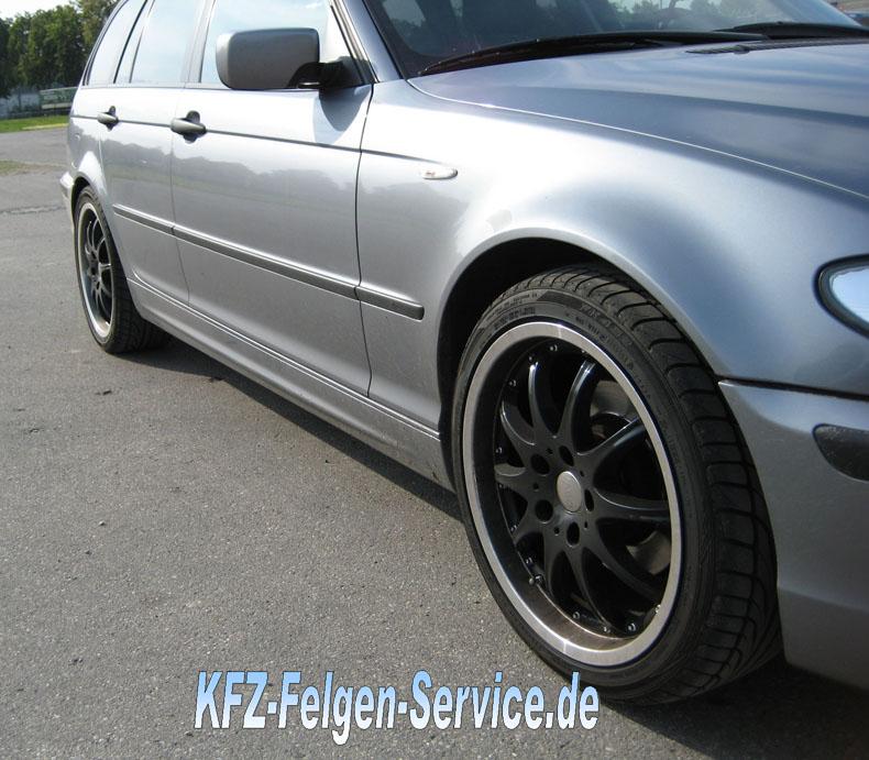 felgen dbv austalia schwarz 5 BMW 3er mit DBV S Australia 18 Zoll Alu Felgen