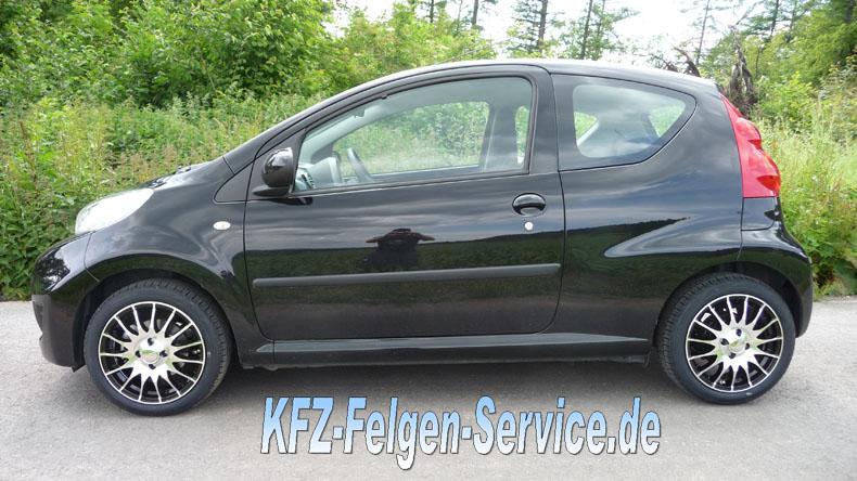 peugeot felgen 15 zoll dbv s florida DBV S Florida 15 Zoll auf Peugeot 107