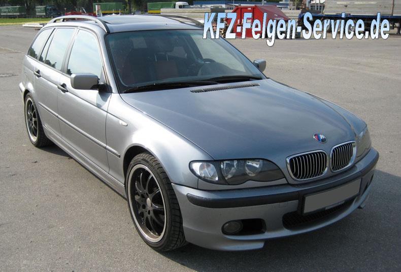 schwarze dbv australia auf 3 er bmw 18 zoll 6 BMW 3er mit DBV S Australia 18 Zoll Alu Felgen