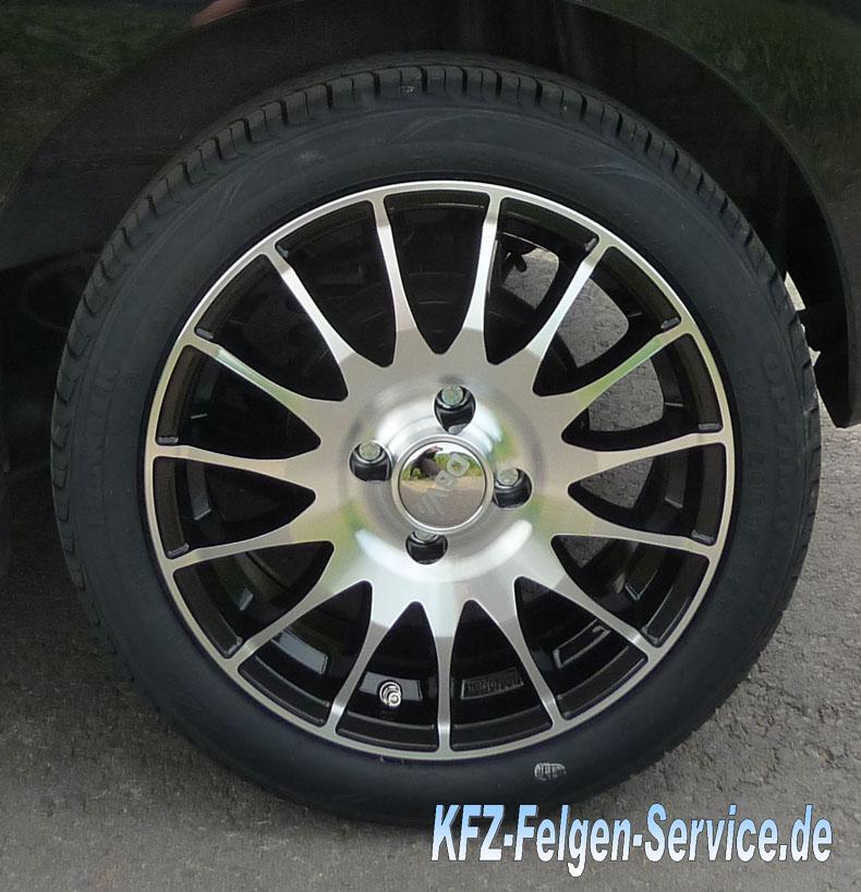 schwarze dbv felgen s florida auf peugeot 107 DBV S Florida 15 Zoll auf Peugeot 107